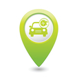 car with wheel and tools icon map pointer green vector image vector image