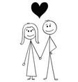 cartoon heterosexual couple man and woman vector image vector image