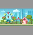 cartoon of an amusement public vector image vector image