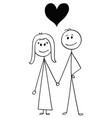 Cartoon of heterosexual couple of man and woman