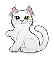 Cartoon white cat vector image vector image