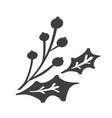 christmas decorative branch elements design floral vector image vector image