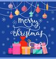 christmas xmas new year gift boxes card vector image vector image
