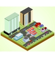 City block with hospital vector image