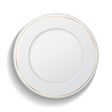 Classic empty white plate isolated on white vector image