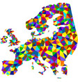 colorful mosaic abstract europe map vector image vector image