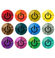 Colorful switch buttons vector image vector image
