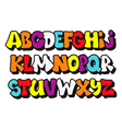 Comics graffiti style font type alphabet vector image vector image