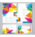 Corporate identity template with blue and green vector image vector image