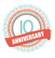 Cute Template 10 Years Anniversary with Balloons vector image vector image