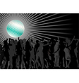 dancing crowd vector image