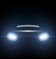dark silhouette of sports car with headlight vector image vector image