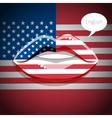 english american language concept vector image vector image