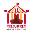 fairground or circus show isolated icon fun fair vector image