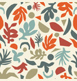 fall leaf collage seamless pattern autumn vector image vector image