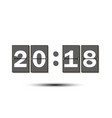 figures 2018 on the numeric scoreboard vector image