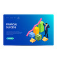 financial success concept with characters design vector image vector image