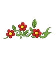 flowers with red blossom branch vector image