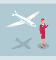 fly attendant stewardess set vector image