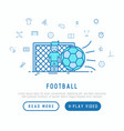 football concept goalkeeper stands at the gate vector image vector image
