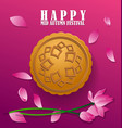 happy mid autumn festival chinese background vector image