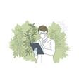herbal alternative medicine concept vector image