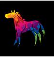 horse standing cartoon graphic vector image