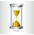 hourglass timer vector image vector image