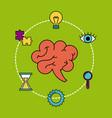 human brain creativity ideas business think vector image vector image