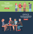 information about team and office vector image vector image