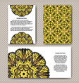 invitation cards design with flower and vector image