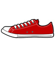 isolated modern low red sneakers vector image vector image