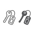 key line and glyph icon close and safety unlock vector image vector image