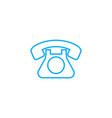 landline phone linear icon concept landline phone vector image vector image
