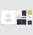 lawyer location logo design and business card vector image