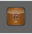 Library wood application icons vector image