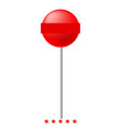 lollipop icon color fill style vector image
