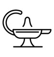 magic lamp icon outline style vector image