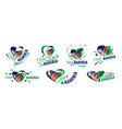 national flag namibia in shape vector image vector image
