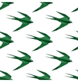 Origami swallow seamless pattern vector image vector image