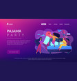 pajama party concept landing page vector image vector image