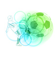 pastel football vector image vector image