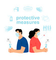 personal infection safety vector image