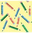 Polygonal Pencil background with geometrical vector image vector image