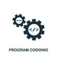 program coding icon creative element design from vector image vector image