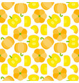 pumpkin seamless pattern for wallpaper or vector image vector image