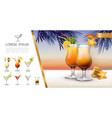 realistic tropical party concept vector image