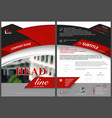 red and black abstract flyer template vector image