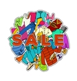 Sale Season Doodle Cloth Collection vector image vector image