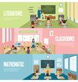 School Classroom Banners vector image vector image